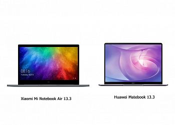Сравнение Xiaomi Mi Notebook Air 13 и Huawei Matebook 13